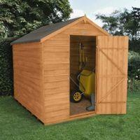 6x8 Apex Overlap Wooden Shed With Assembly Service With Base Home Garden Garden Sheds