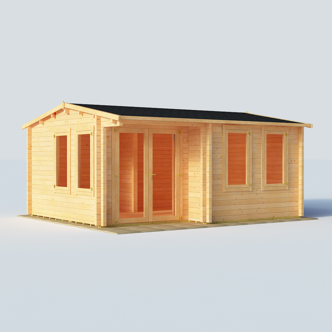 Billyoh 5000x4000 inter locking kent log cabin 01 for Garden shed homebase